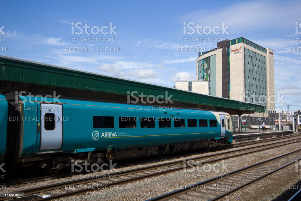 Cardiff Train Station in Wales, UK stock photo