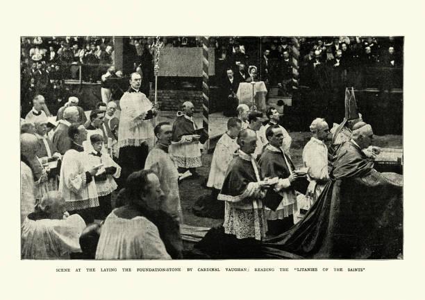Kardinal Vaughan, die Grundsteinlegung der Westminster Cathedral – Foto