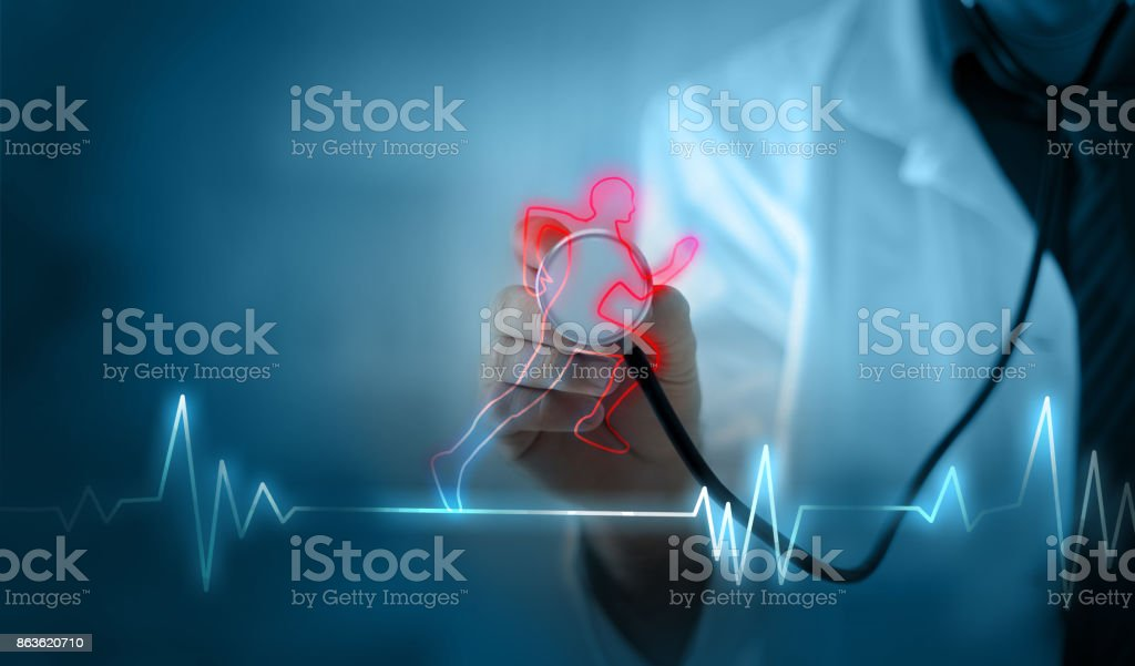 Cardio exercise increases the heart's health stock photo