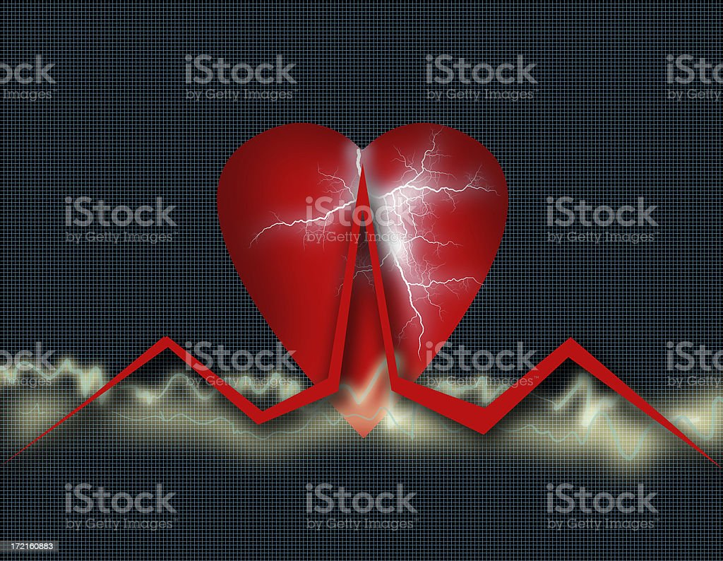 Cardio Healthcare - Heart Health Chart  (Part 2) royalty-free stock photo