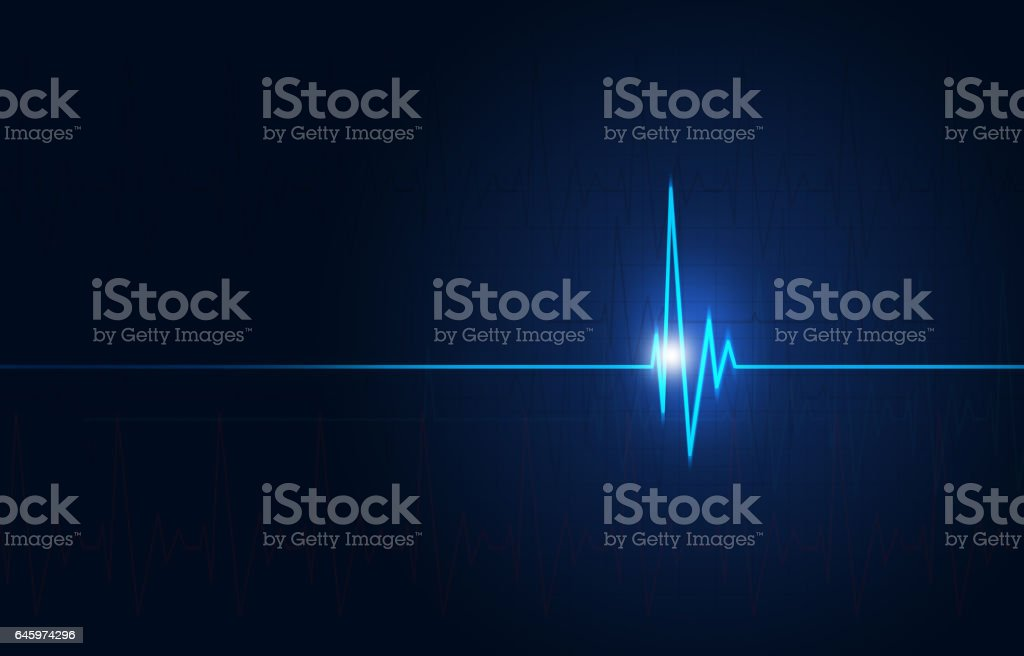 Cardio Medical Blue Background stock photo