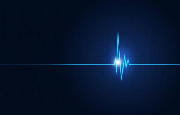 fond bleu medical cardio - rythme cardiaque photos et images de collection
