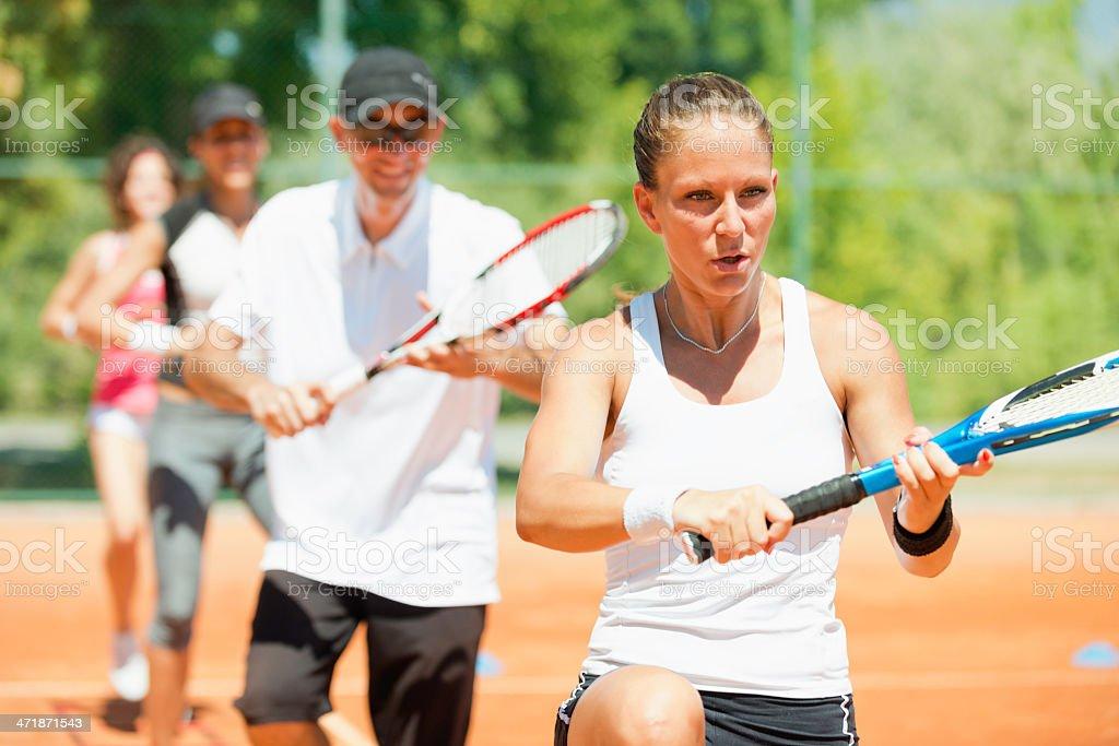 Cardio tennis stock photo
