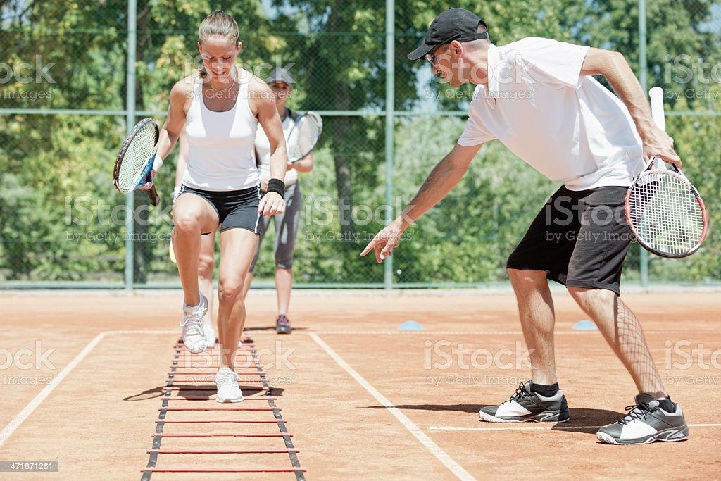 Cardio tennis workout stock photo