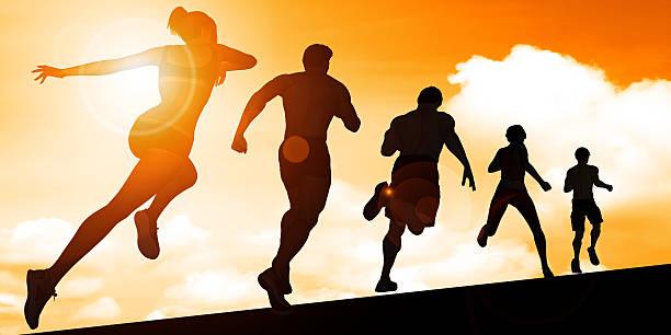 cardio training - jogging hill bildbanksfoton och bilder