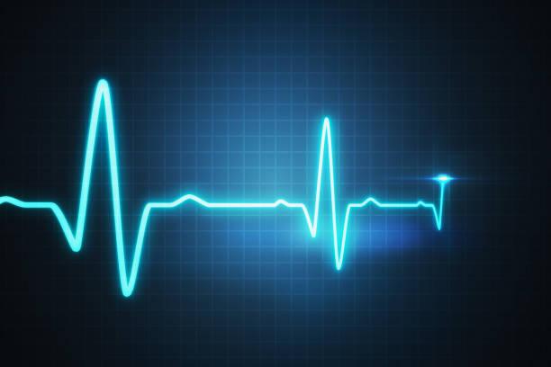 EKG - cardiogram para monitorar o batimento cardíaco. 3D renderizados ilustração. - foto de acervo