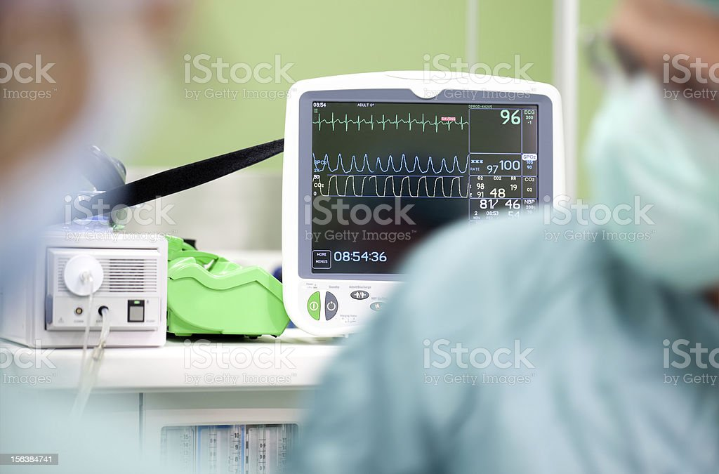 Cardiogram monitor royalty-free stock photo