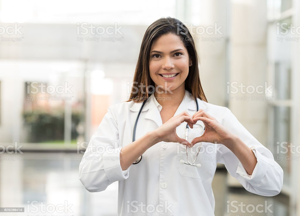 Cardiologist at the hospital stock photo