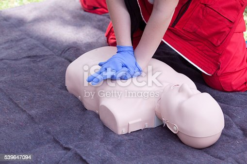 CPR dummy first aid training