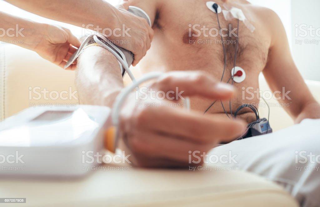 Cardiovascular control stock photo