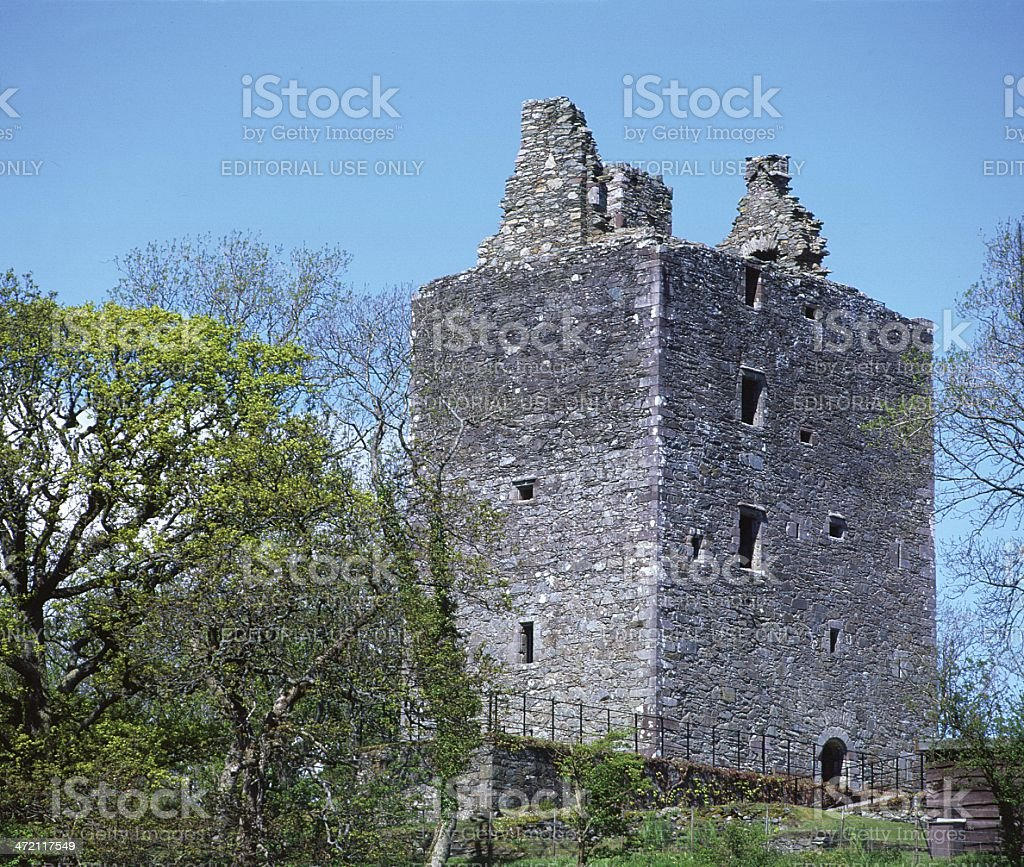 Cardoness Castle, Solway Firth, Dumfries & Galloway stock photo