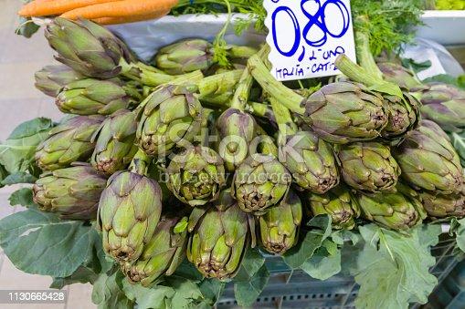 Artichokes at the Italian market.