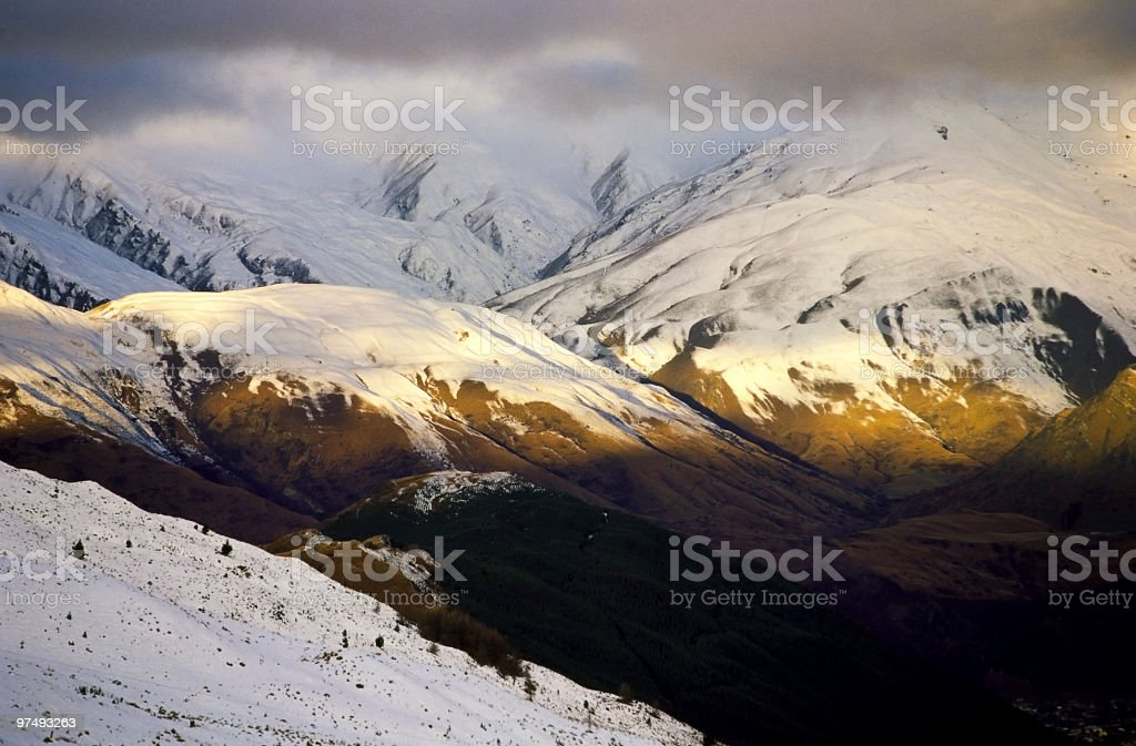 Cardrona mountain royalty-free stock photo
