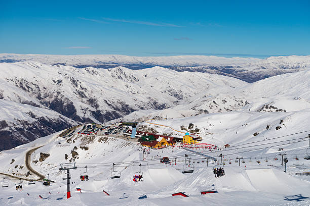 Cardrona Mountain Resort Panorama with Lift in foreground – Foto