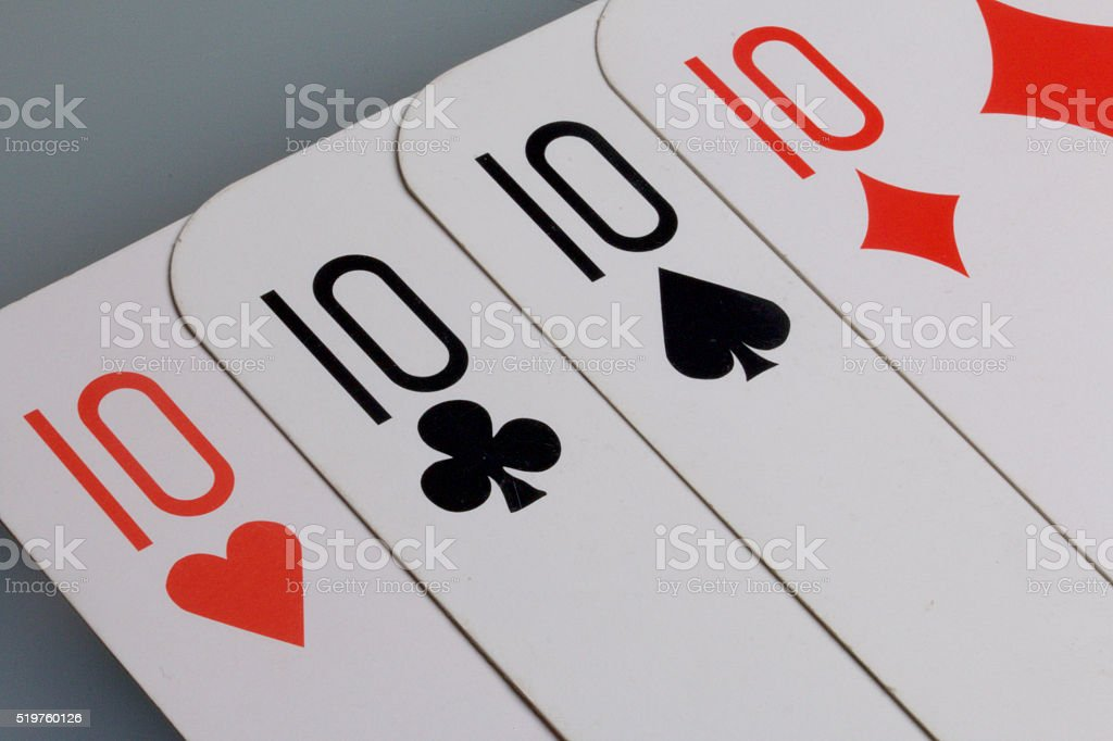 Cards. Accessories for the game stock photo