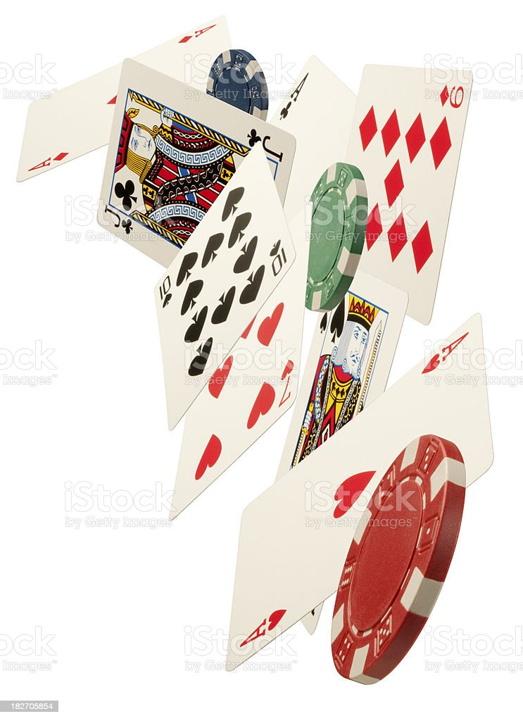 Cards and Chips royalty-free stock photo