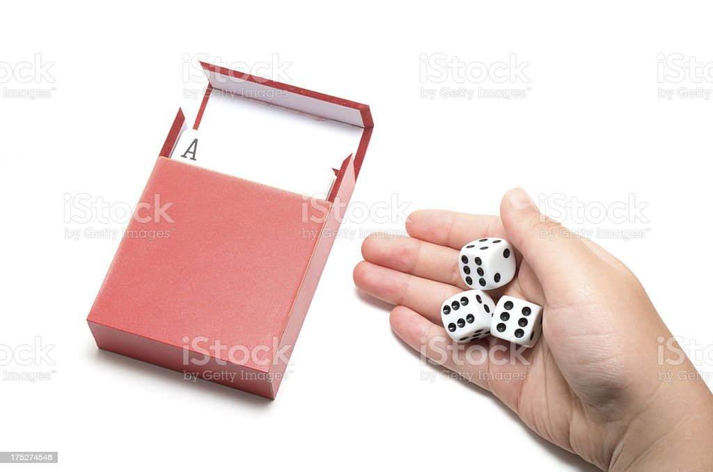 Cards and dices royalty-free stock photo