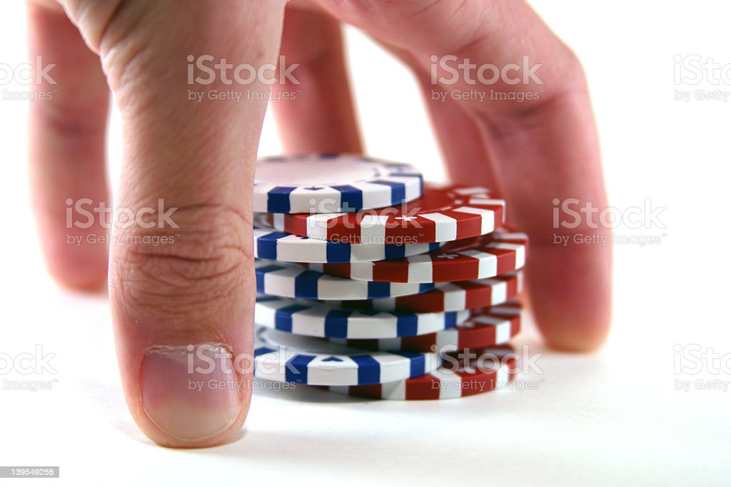 Cards - Chip Shuffle royalty-free stock photo