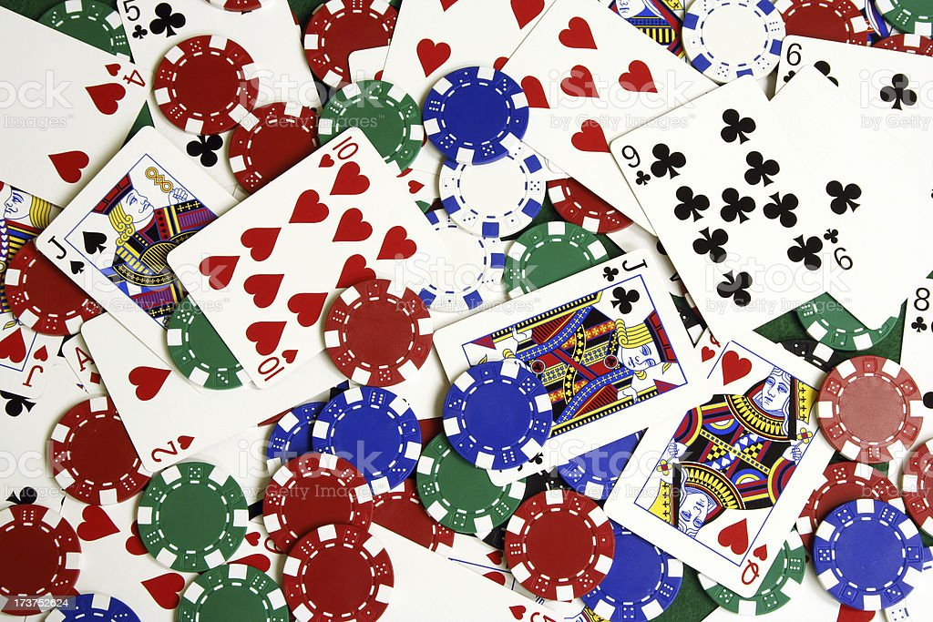 Cards & Chips royalty-free stock photo