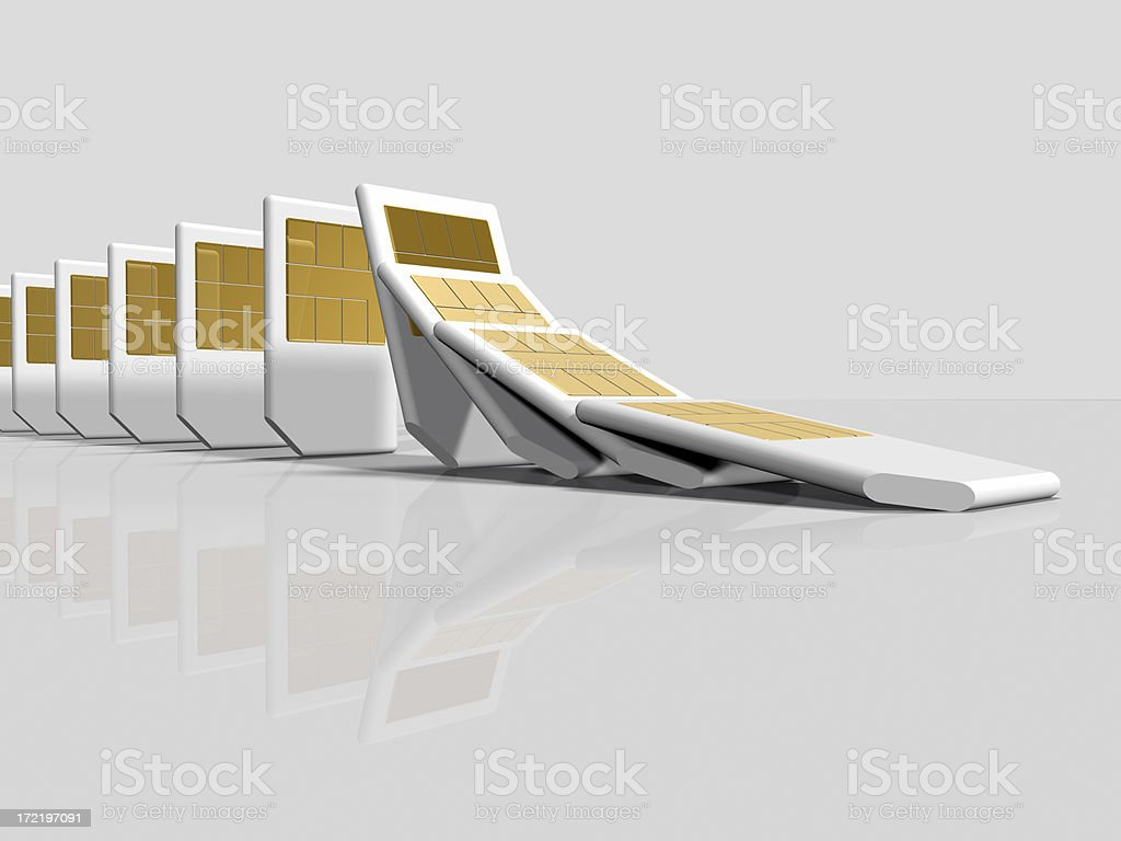 SIM Cards Falling royalty-free stock photo