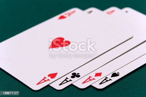 istock cards four or two card 01 aces 139671127