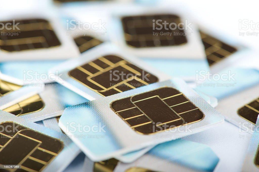 SIM cards royalty-free stock photo