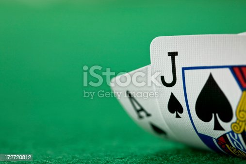 Black jack on green.PLEASE CLICK ON THE IMAGE BELOW TO SEE MY CARDS LIGHTBOX WITH MANY OTHER IMAGES YOU MAY FIND USEFUL: