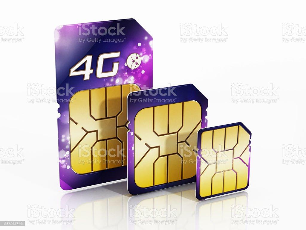 4G SIM cards stock photo