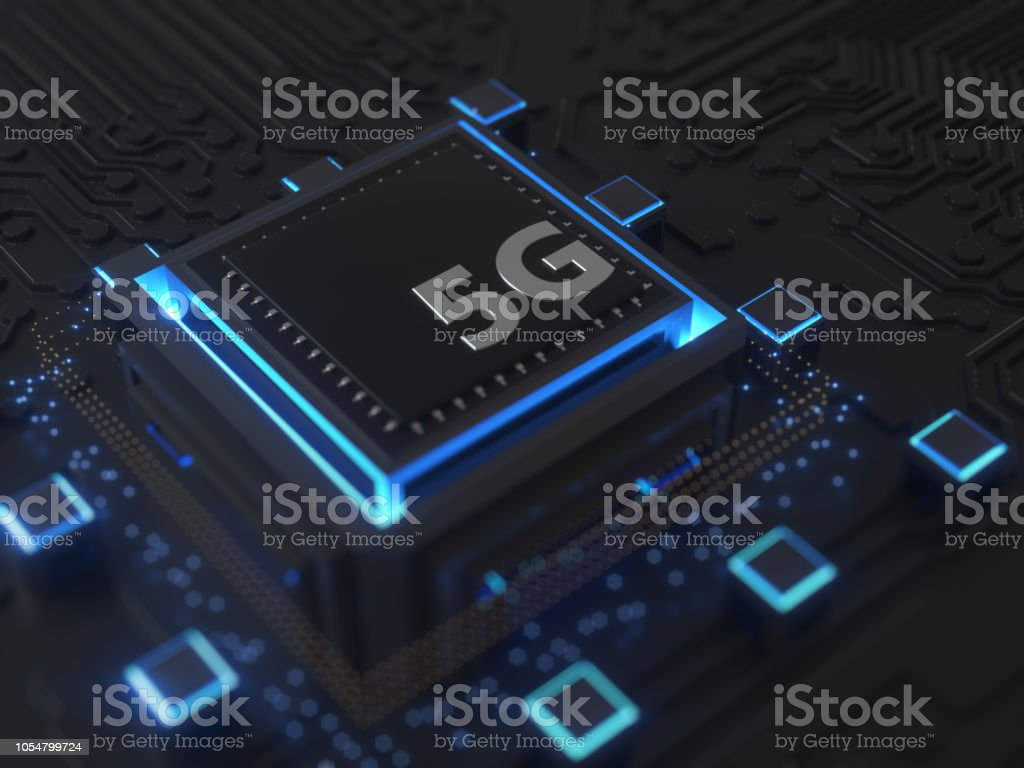 5G SIM Cards Technology stock photo