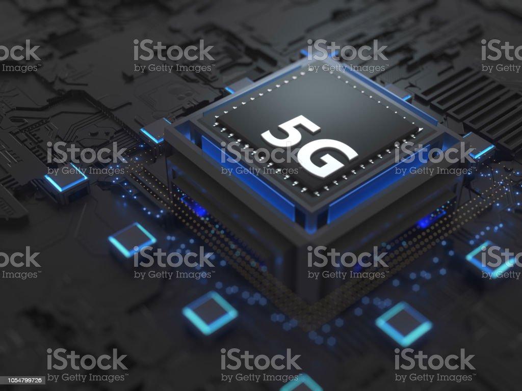 5G SIM Cards Technology stock photo