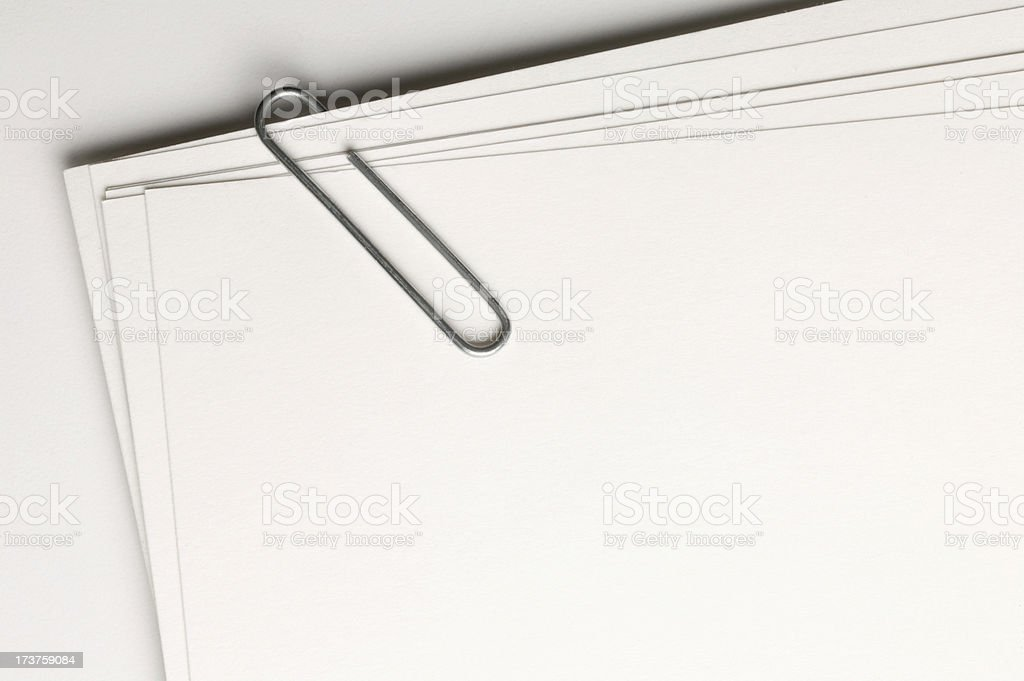 Cards with paper clip royalty-free stock photo