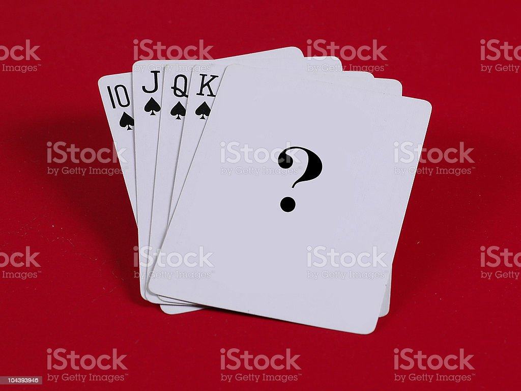 Cards with question mark royalty-free stock photo