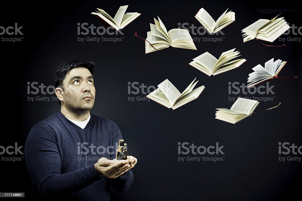 Care and Feeding of Books royalty-free stock photo