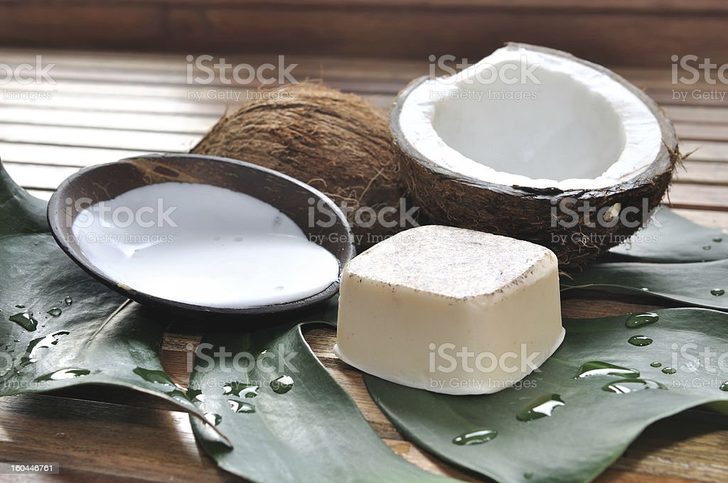 Care coconut royalty-free stock photo