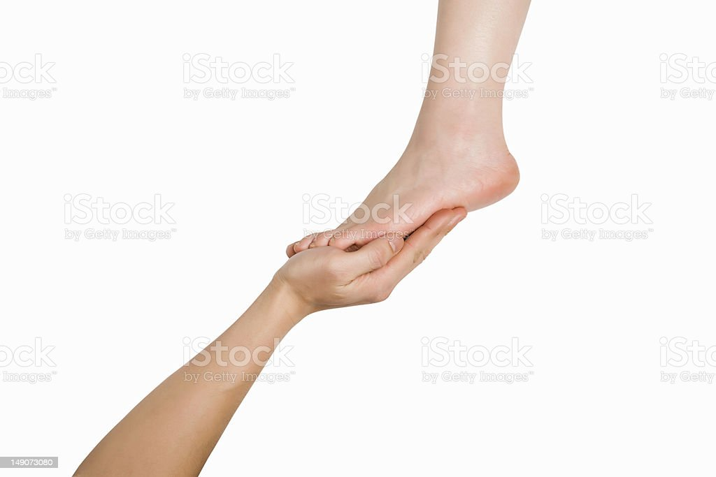 Care for beautiful feet royalty-free stock photo