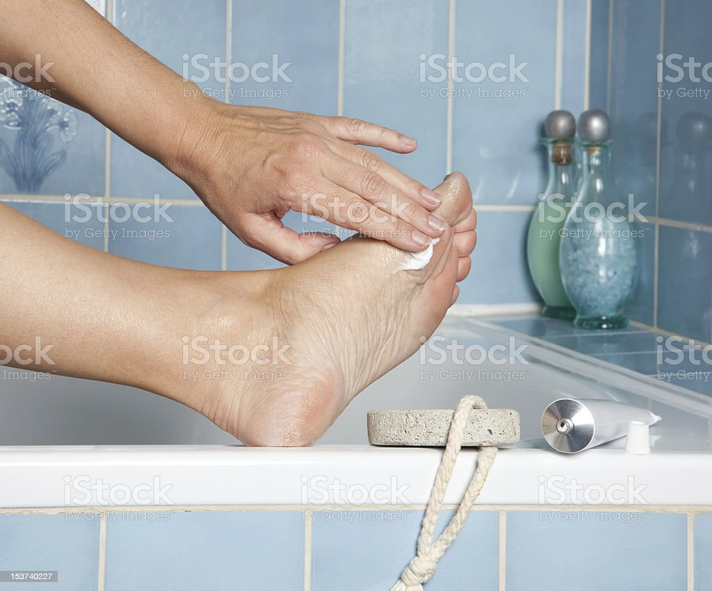 Care for feet royalty-free stock photo