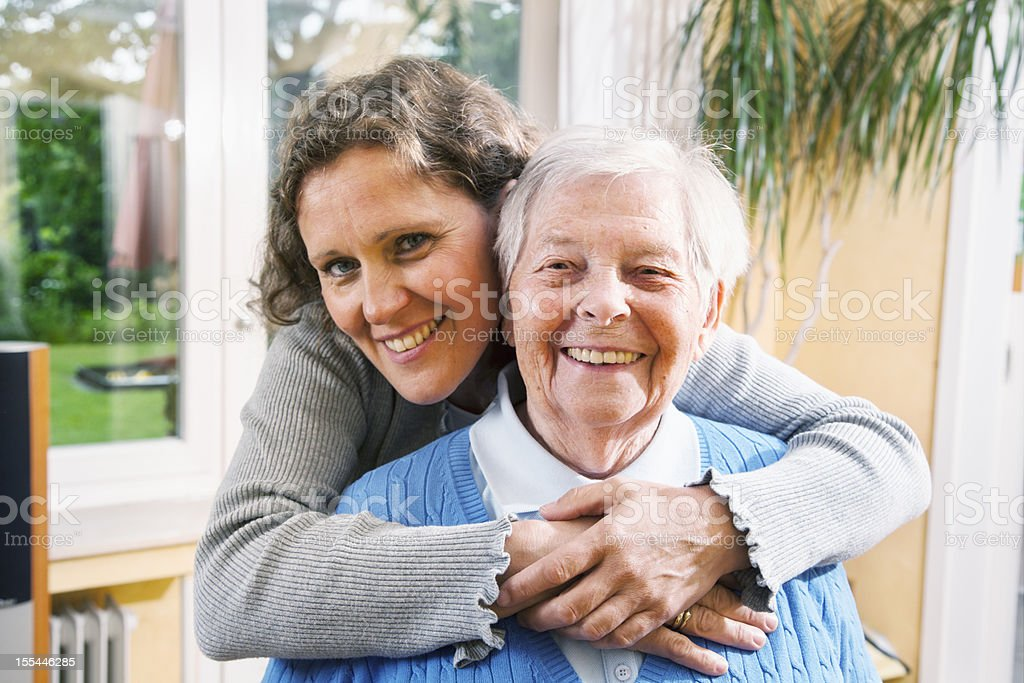 care for senior woman royalty-free stock photo