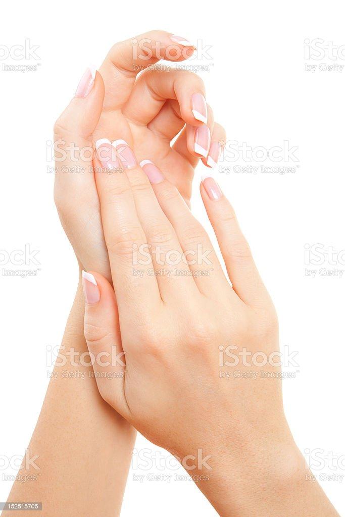 Sinnlichkeit Frau Hände Pflege – Foto