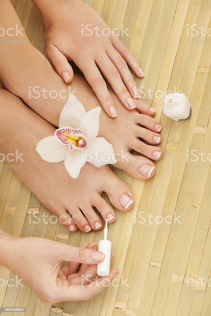 care for sensuality woman nails royalty-free stock photo