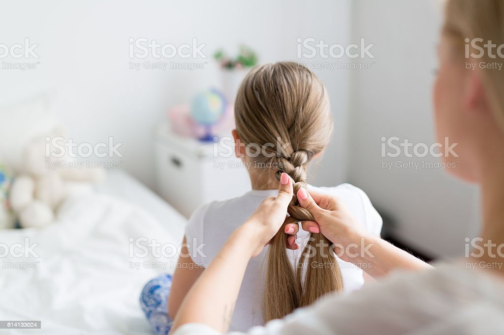 Care of hair stock photo