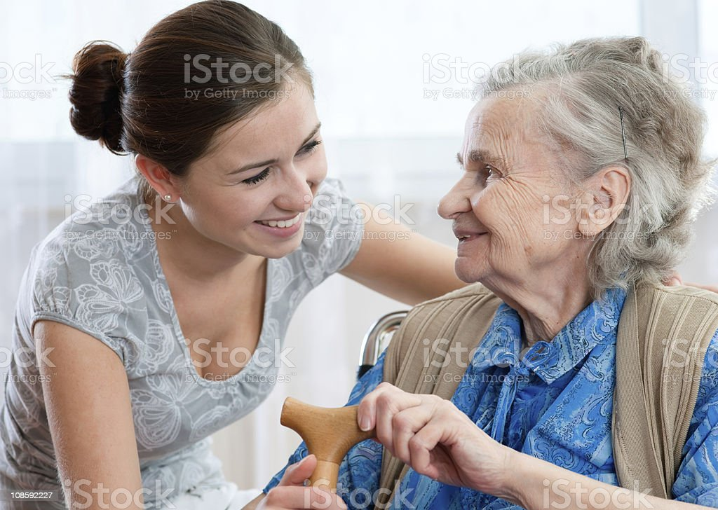 care - Royalty-free 80-89 Years Stock Photo