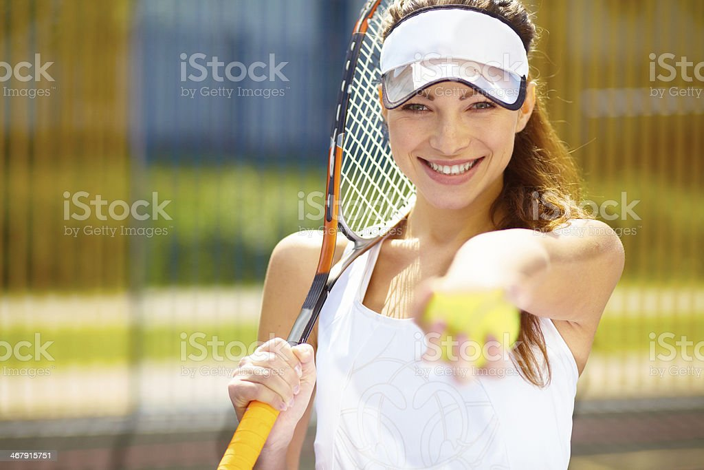 Care to join me for tennis? royalty-free stock photo