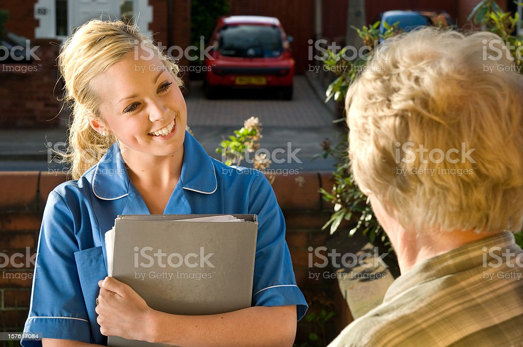 care visit royalty-free stock photo