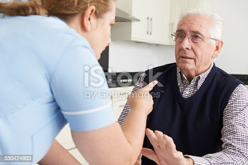 istock Care Worker Mistreating Elderly Man 530424933