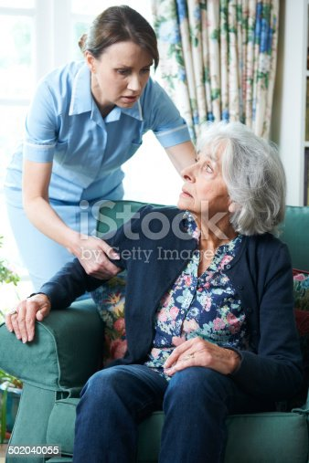 istock Care Worker Mistreating Senior Woman 502040055