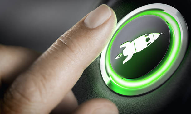 Career Accelerator, Boost Button stock photo
