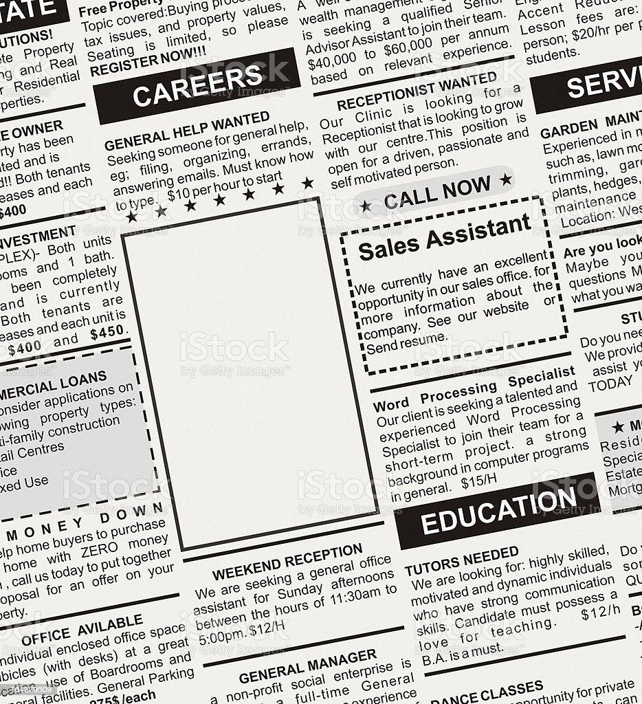 Career Ad stock photo