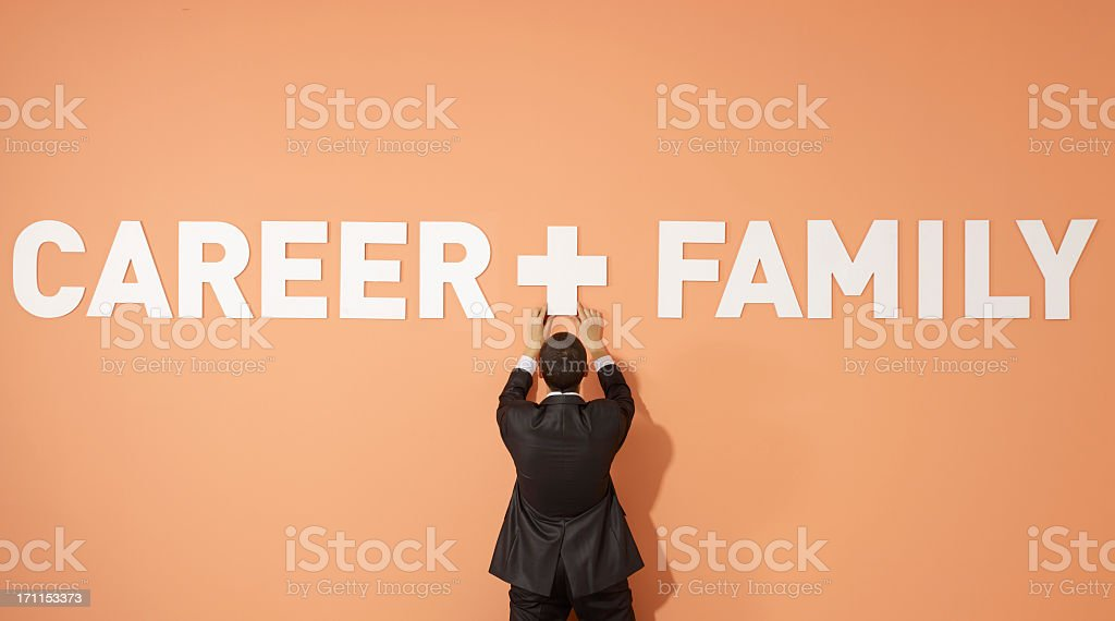 Career and Family stock photo