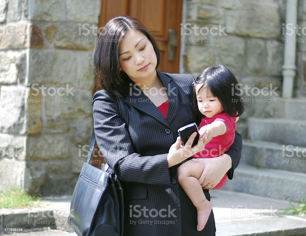 Career and motherhood royalty-free stock photo