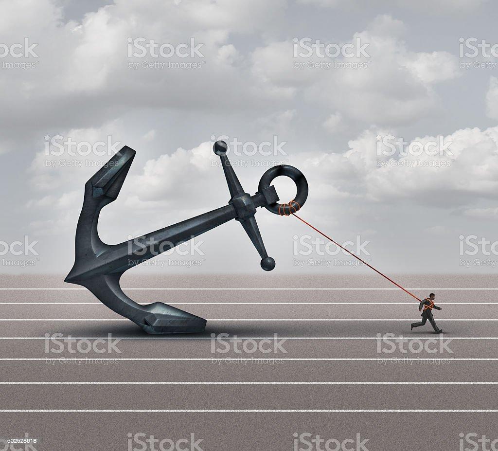 Career Burden stock photo